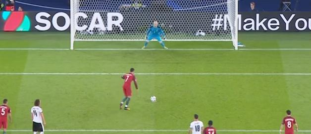 Header: Ronaldo miss