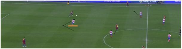 Afbeelding 5: Hoog druk zetten van Atlético Madrid.